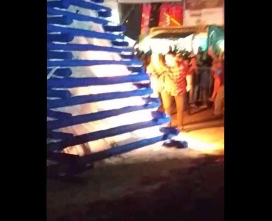 Rogério Lins, prefeito de Osasco, é atingido por explosão de fogueira em festa junina
