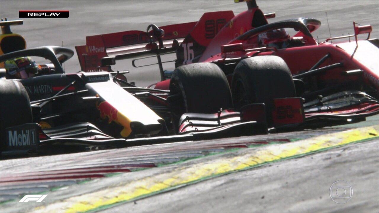 Verstappen toca rodas com Leclerc e assume a primeira colocação do GP da Áustria