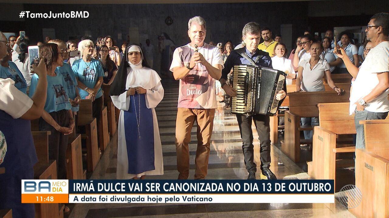 Em outubro: Arquidiocese anuncia a data da canonização de Irmã Dulce