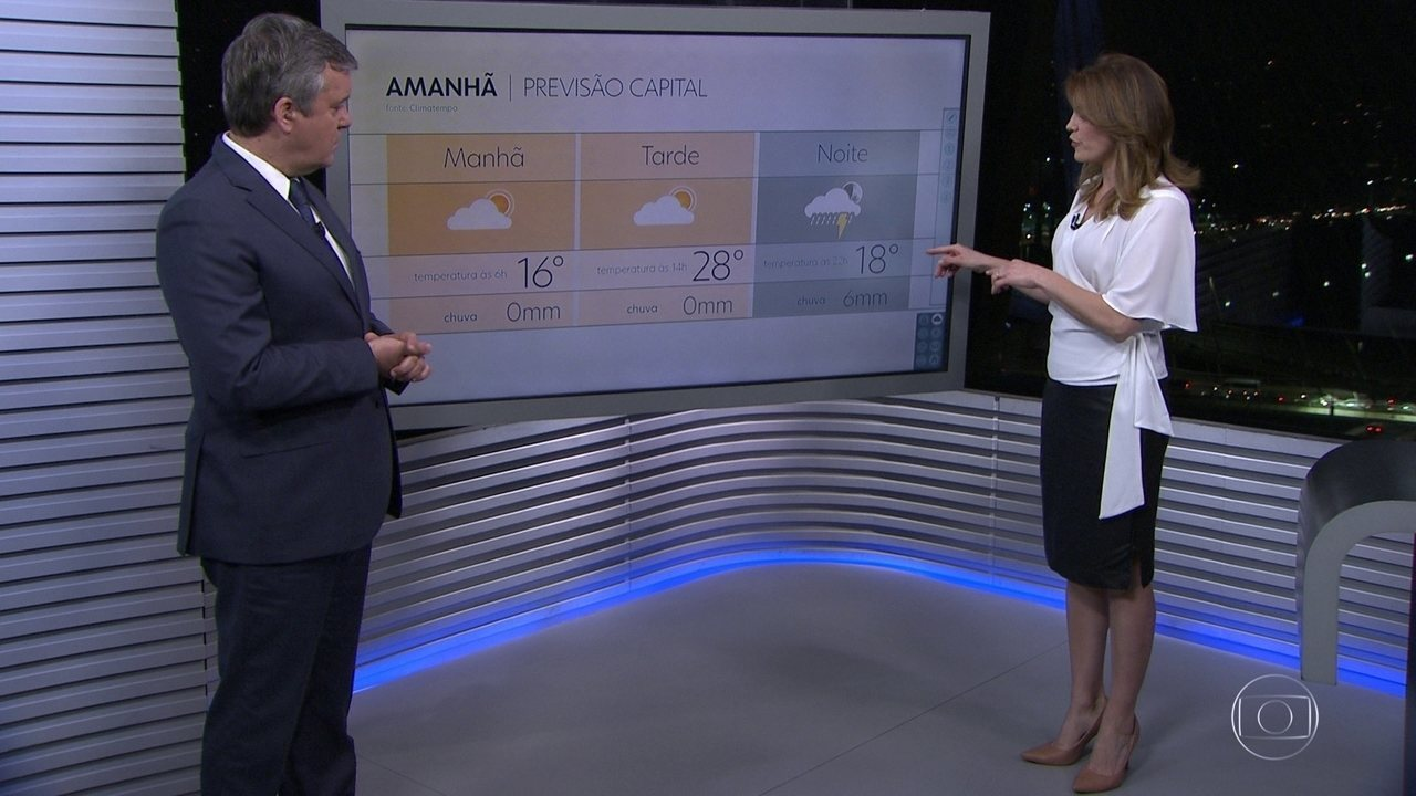 A previsão de chuva para amanhã está mantida na capital