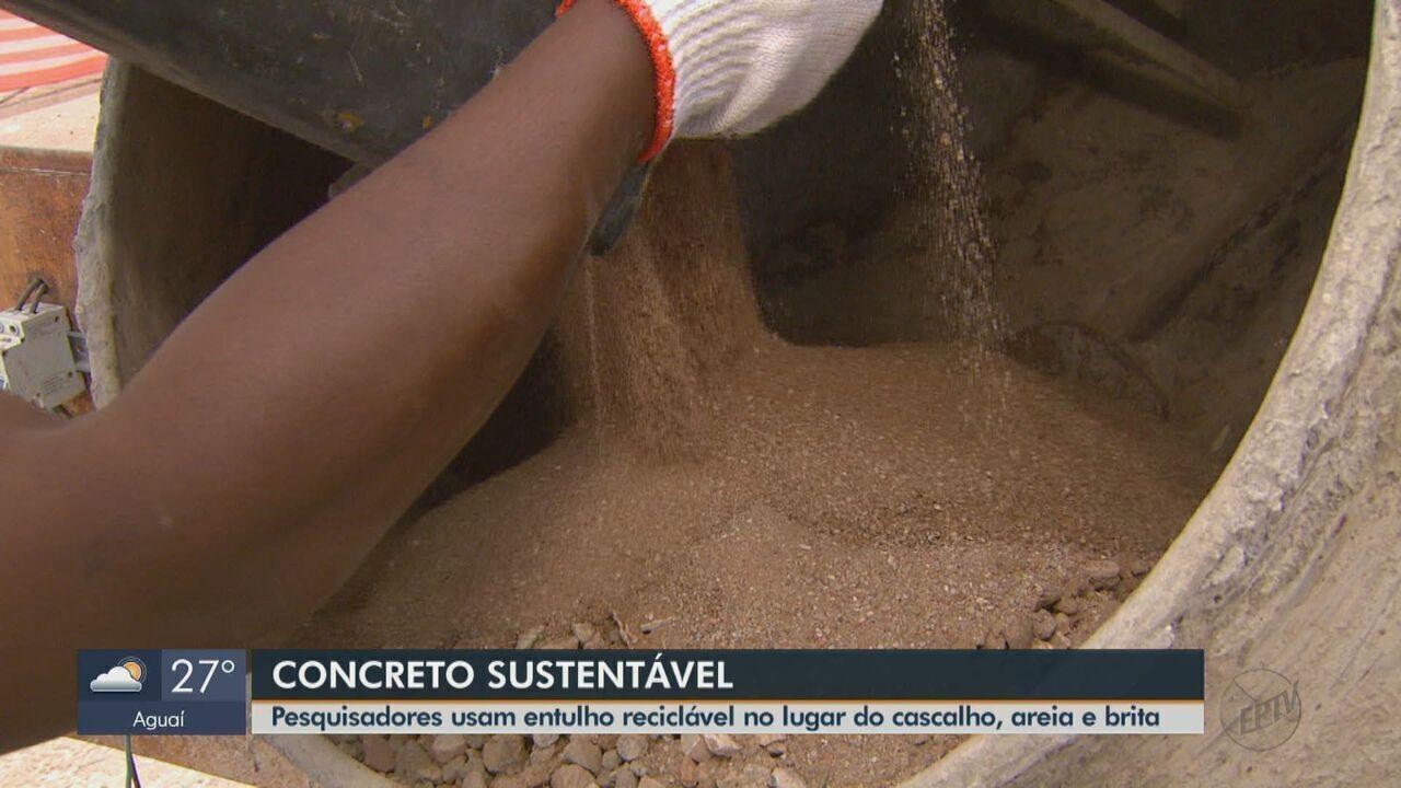 Pesquisadores da USP São Carlos usam entulho reciclável no lugar de areia e brita