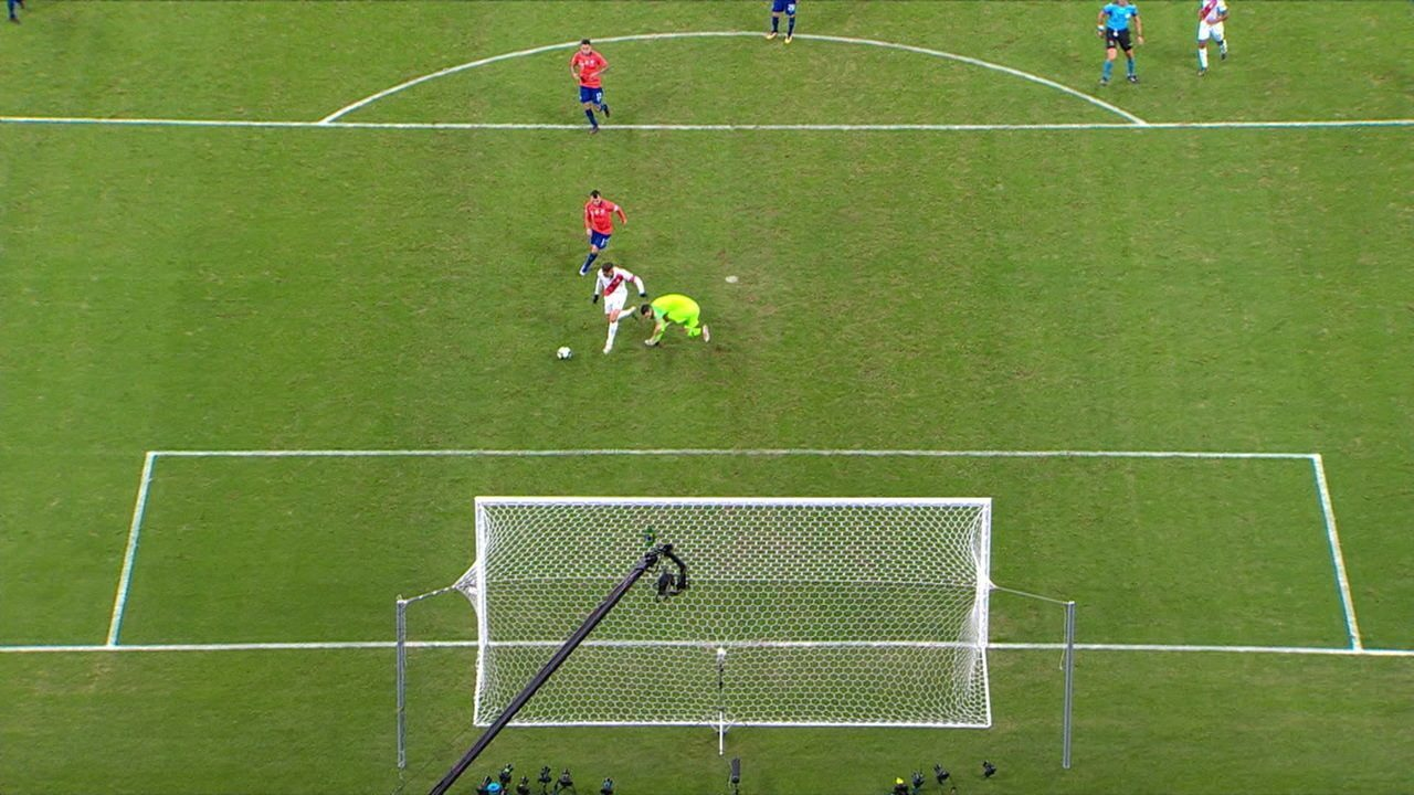 O gol de Guerrero na semifinal contra o Chile