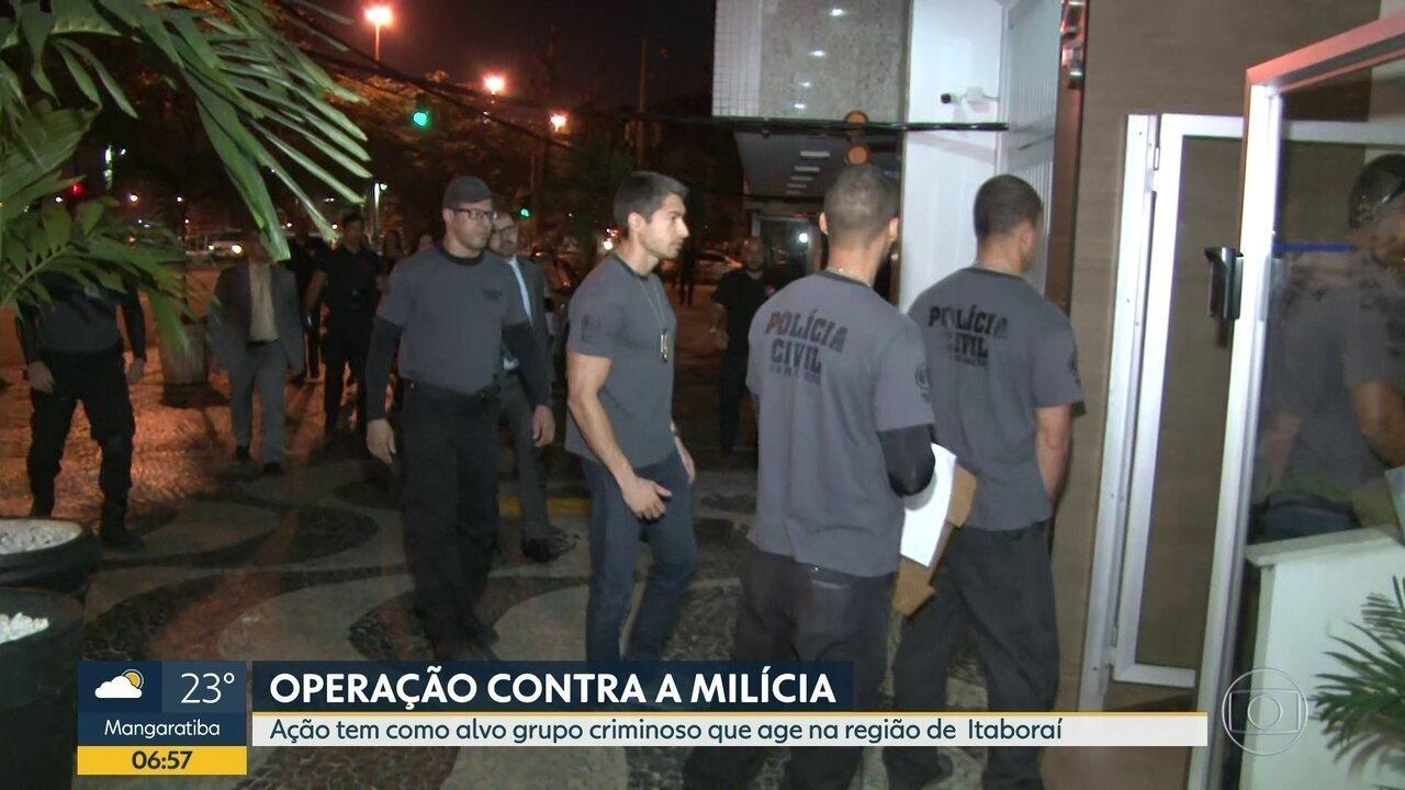 Policia Civil faz operação contra a milícia em Itaboraí