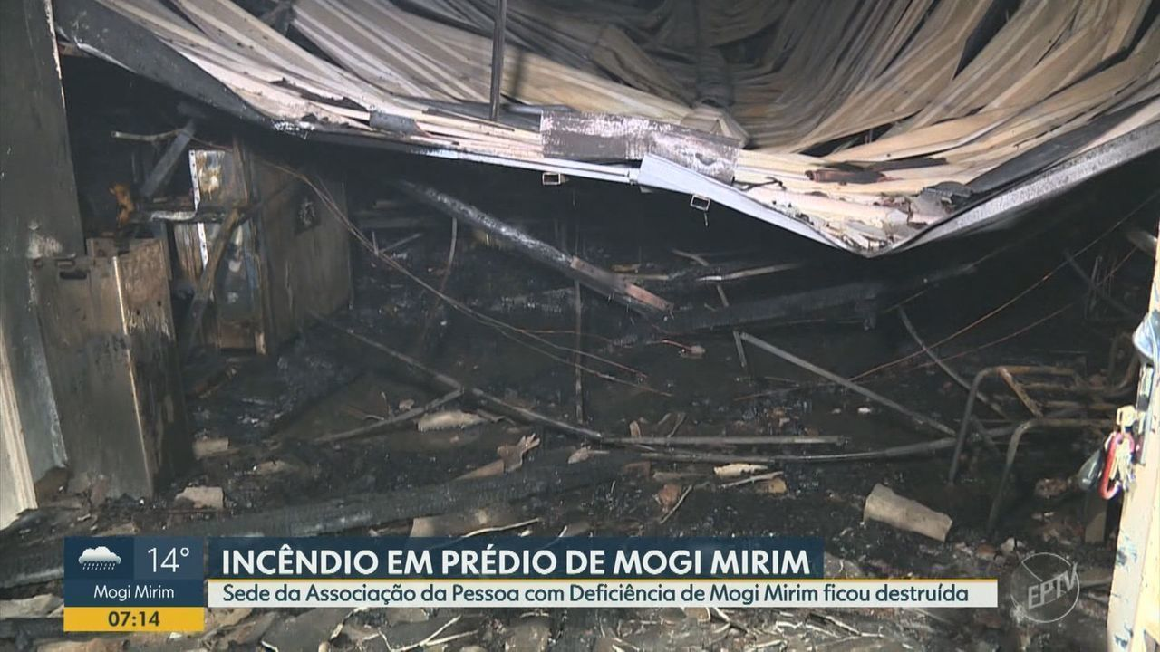 Incêndio atinge prédio da Associação da Pessoa com Deficiência de Mogi Mirim