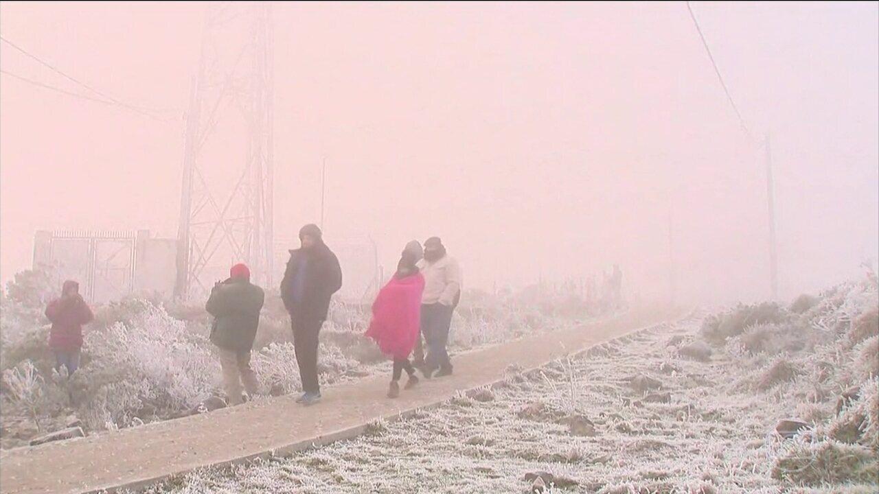 Baixas temperaturas batem recorde no Sul e Sudeste do país