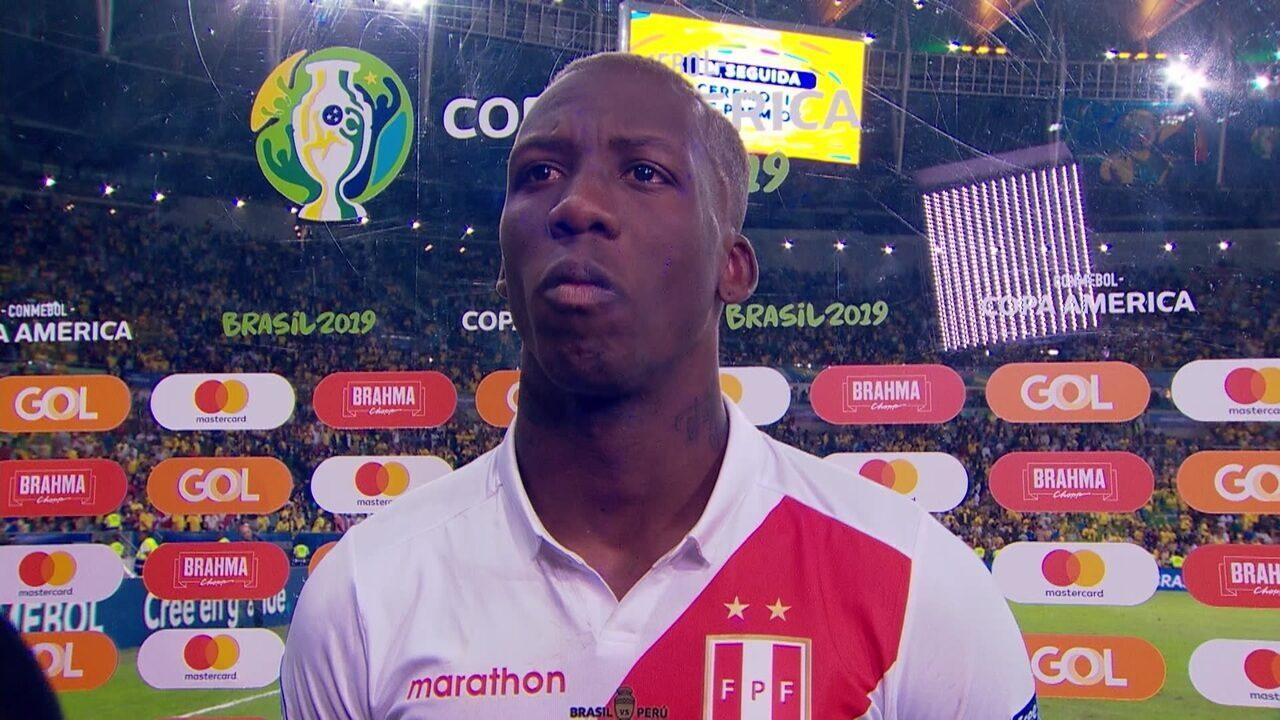 Emocionado, Advíncula agradece povo peruano e parabeniza jogadores pela campanha na Copa América