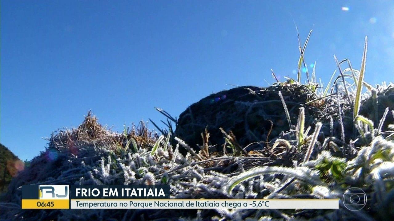 Temperatura chega a -7 graus em Itatiaia