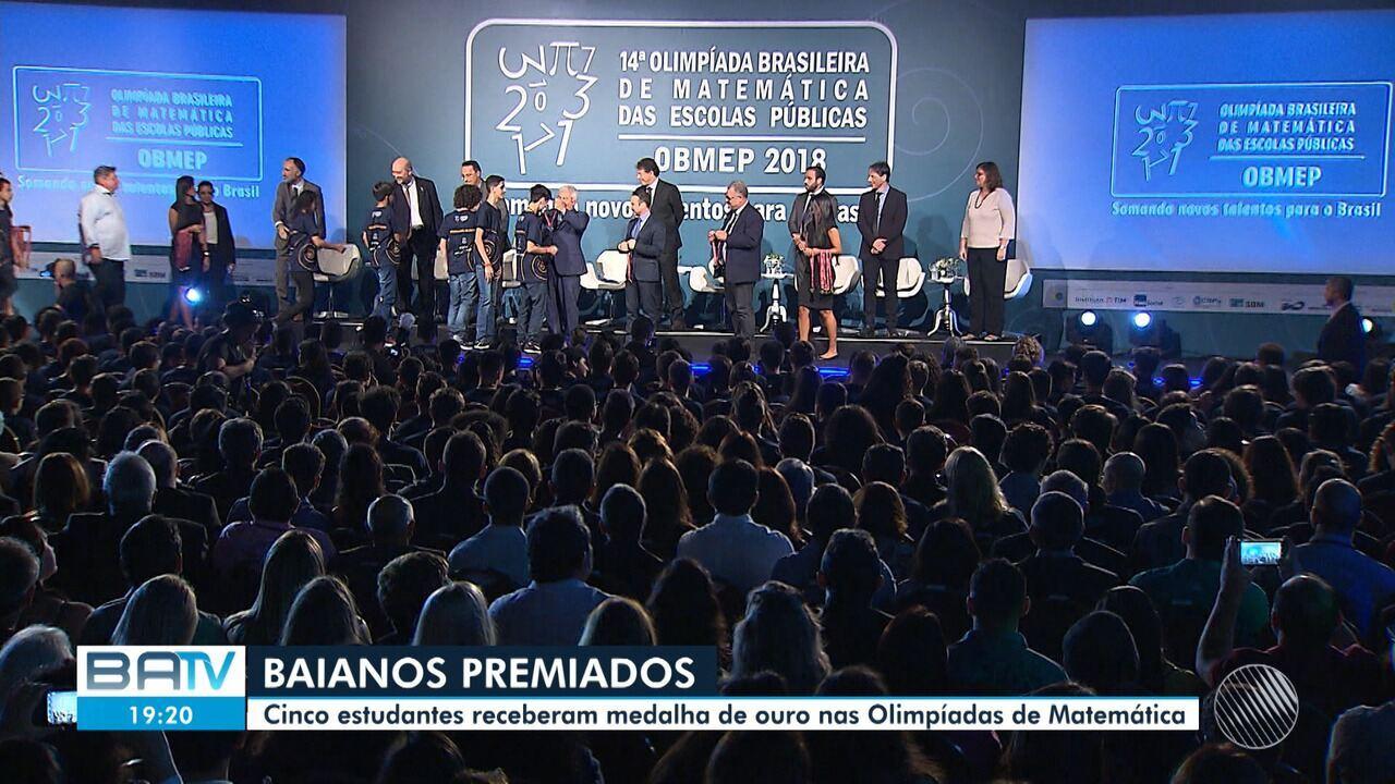 Cinco estudantes soteropolitanos foram premiados pela Olimpíada Brasileira de Matemática