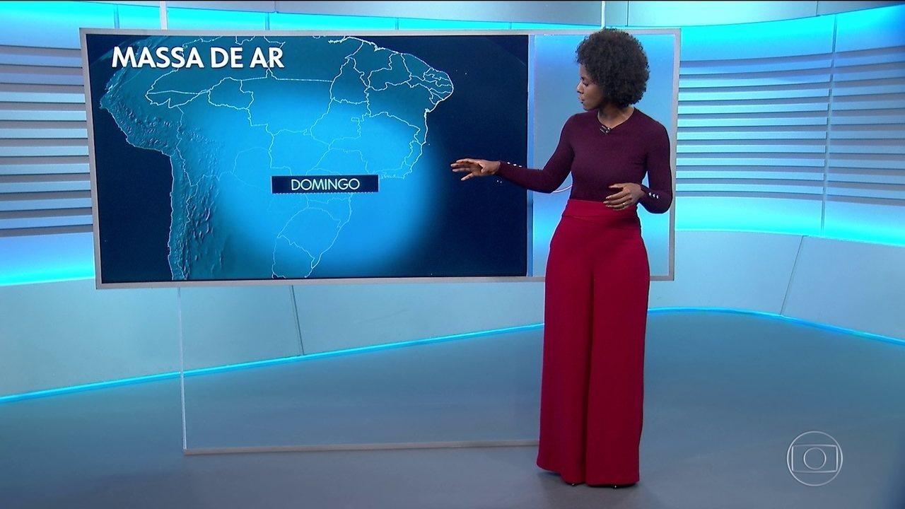 Frio diminui gradualmente no centro-sul do país