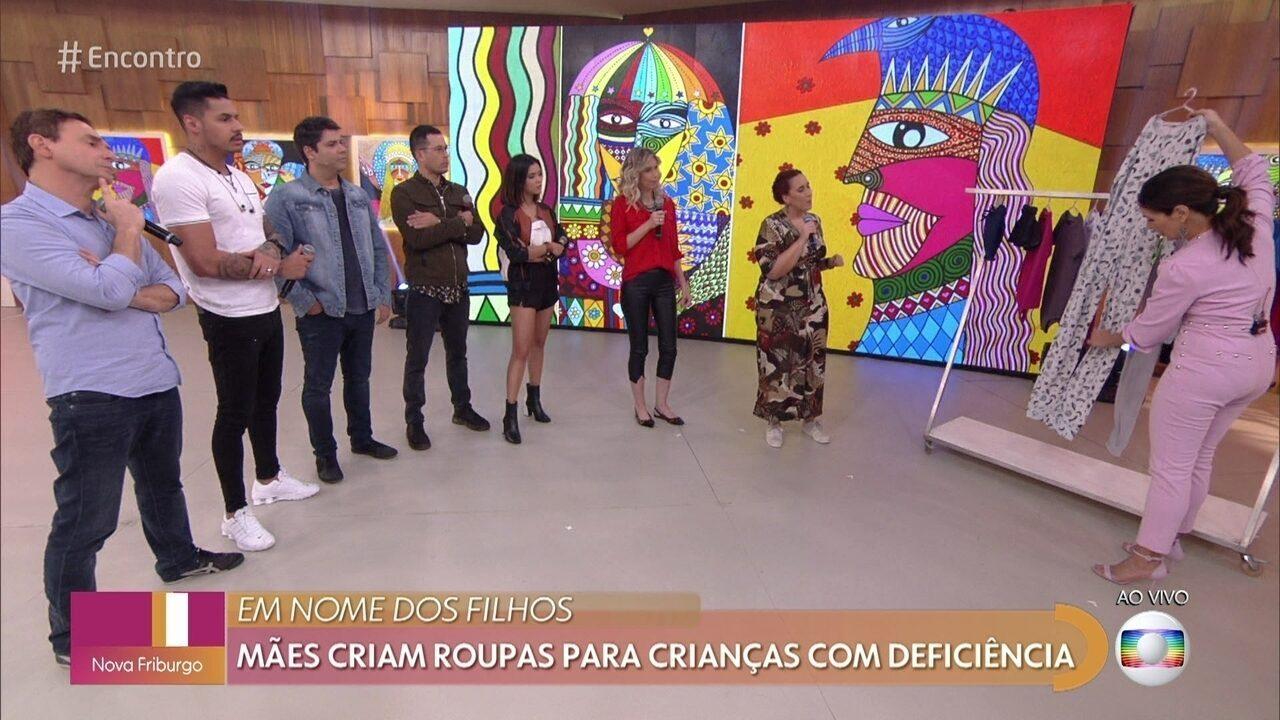 Fernanda e Maria Eduarda criaram marca de roupas para crianças com deficiência