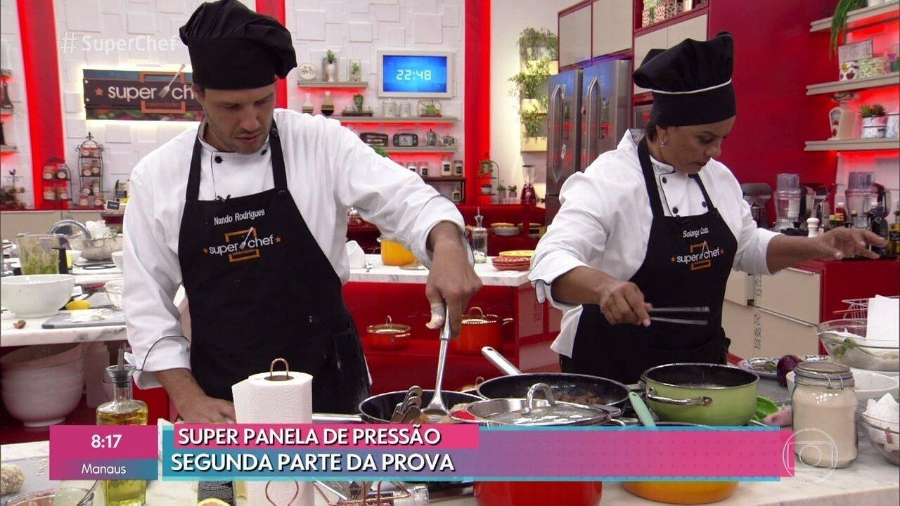 Participantes disputam prova semifinal do 'Super Chef Celebridades 2019'