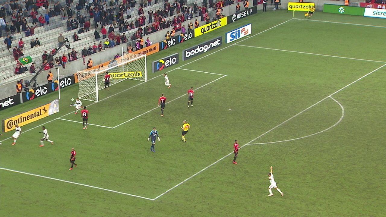 Os gols de Athletico-PR 1 x 1 Flamengo pelas quartas de final da Copa do Brasil