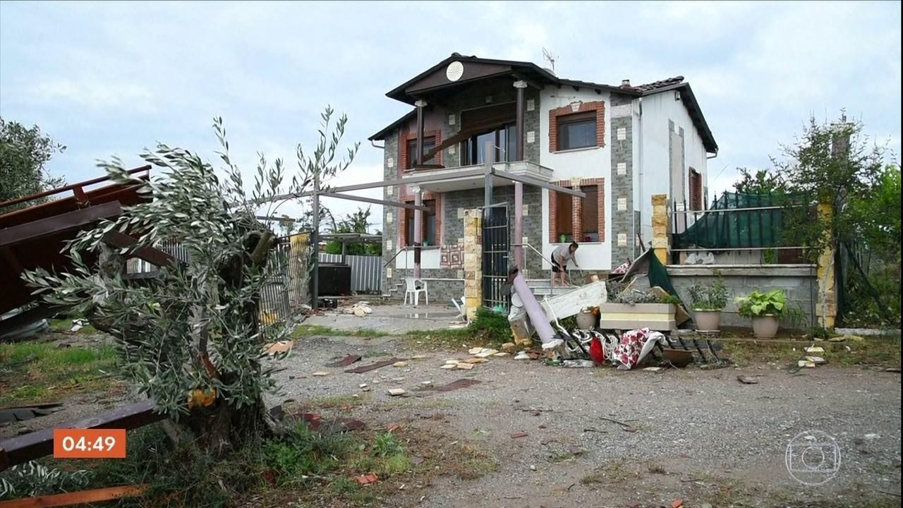 Tornados e tempestades deixam mortos e feridos na Grécia
