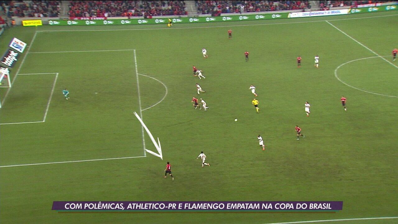 Com polêmicas, Athletico-PR e Flamengo empatam na estreia de Jorge Jesus