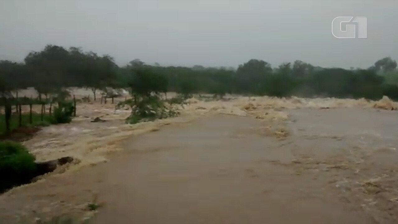 VÍDEO: Barragem se rompe em Pedro Alexandre, na Bahia