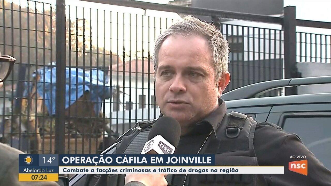 Polícia cumpre no Norte de SC mandados prisão contra organização criminosa