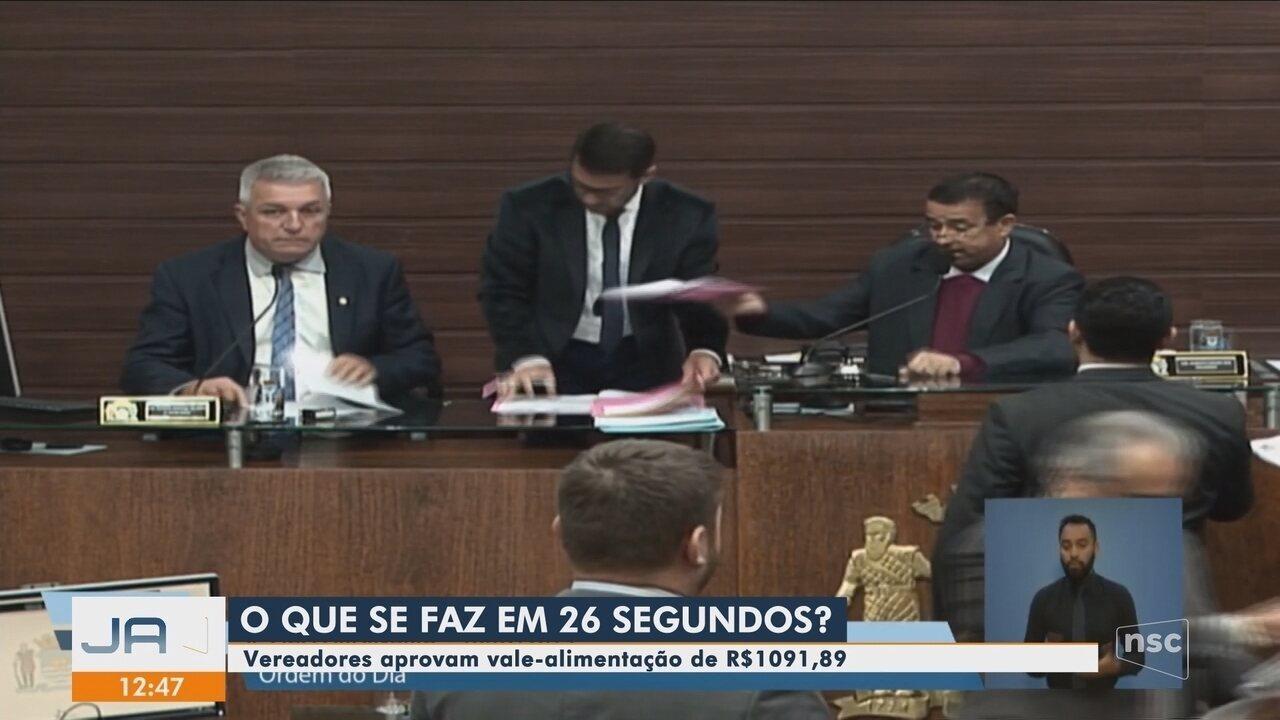 Câmara de Florianópolis aprova auxílio-alimentação de R$ 1 mil para vereadores
