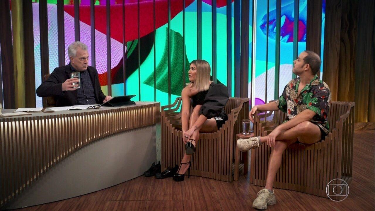 Justin Neto e Lorena Improta falam sobre amizade entre eles e programa q apresentam na TV