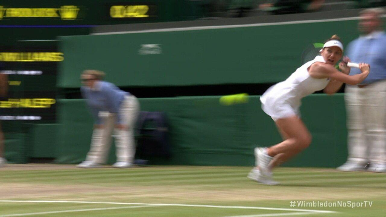 Simona Halep chega em todas e ganha o ponto de Serena