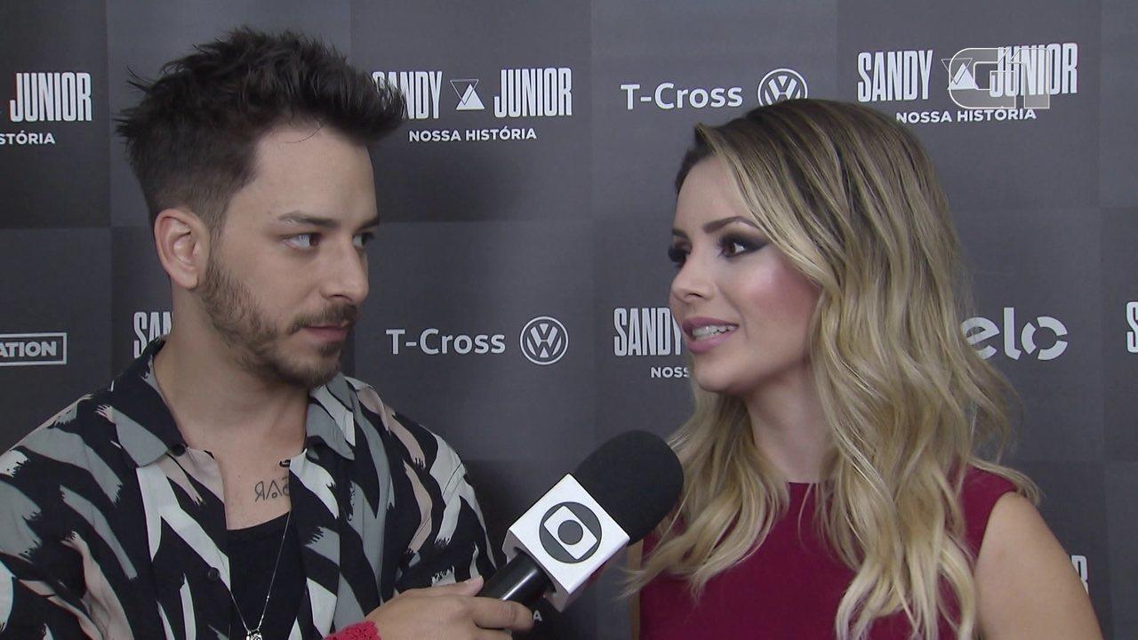 Sandy e Junior falam sobre o show de estreia da turnê de 30 anos