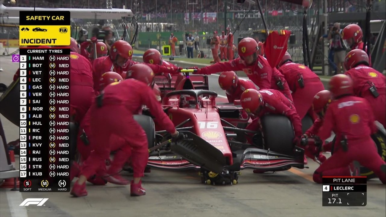 Leclerc faz a segunda parada e volta na sexta posição
