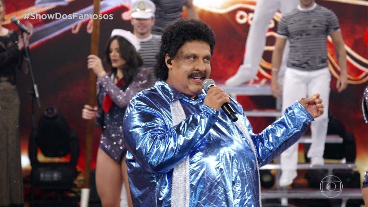 Ceará homenageia Tim Maia no Show dos Famosos