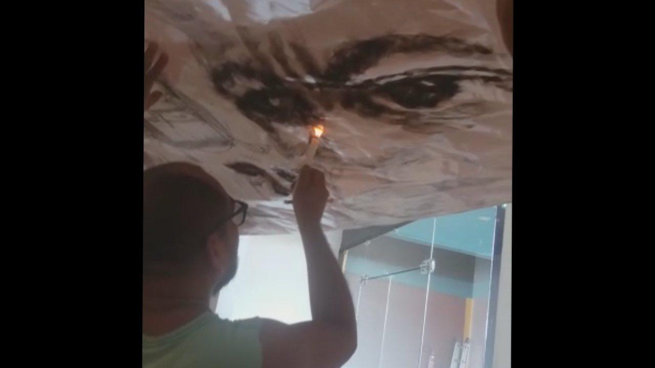 Fogo e fumaça se transformam em obras de arte no Amapá