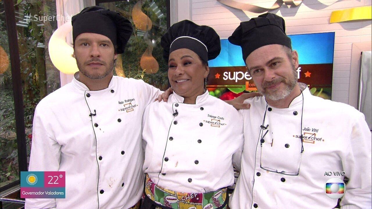 Jurados avaliam os cardápios da final do 'Super Chef Celebridades 2019'