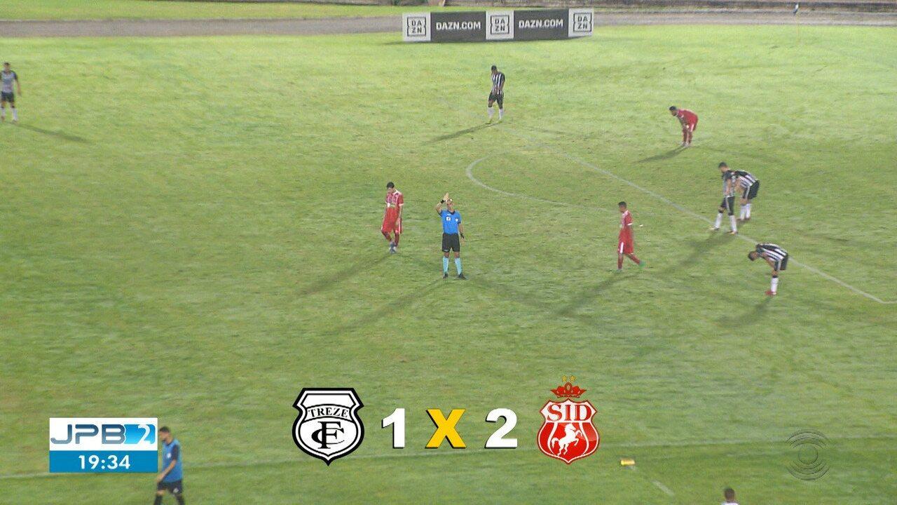 Treze perde em casa para o Imperatriz; segundo gol sai de vacilo grande do volante Robson