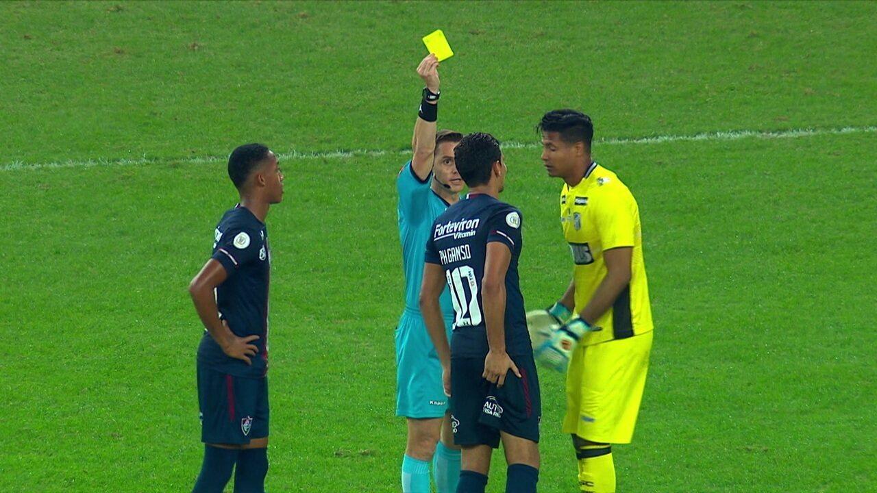 Paulo Henrique Ganso recebe amarelo por reclamação e vai desfalcar o Fluminense no clássico contra o Vasco