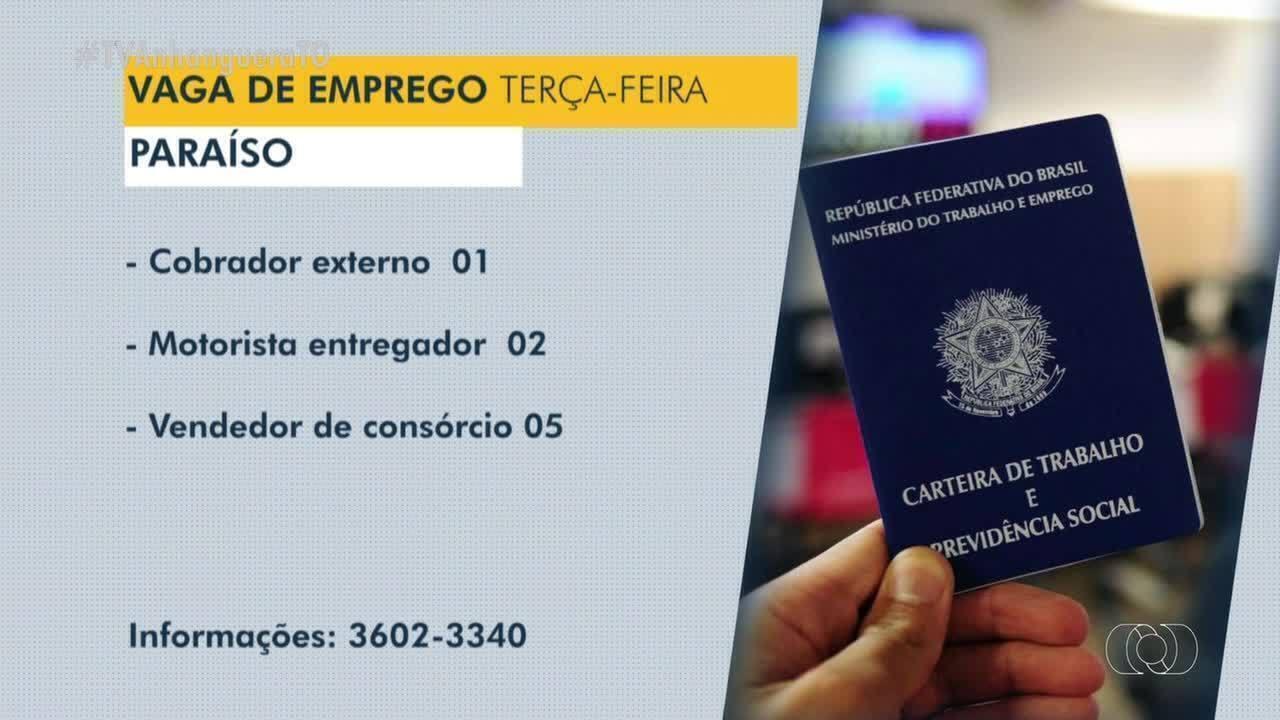 Confira as vagas de emprego disponíveis em Taquaralto, Paraíso e Araguaína