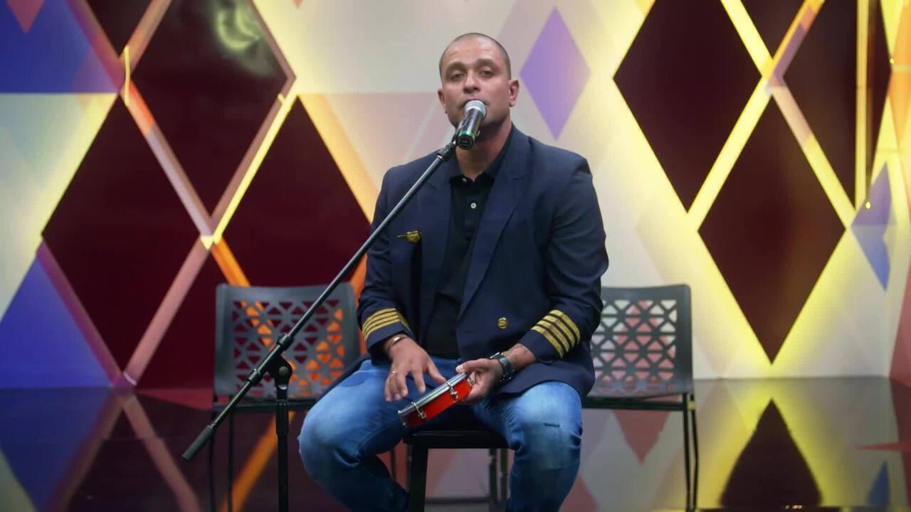 Veja preparação de Diogo Nogueira para a final do 'Show dos Famosos'