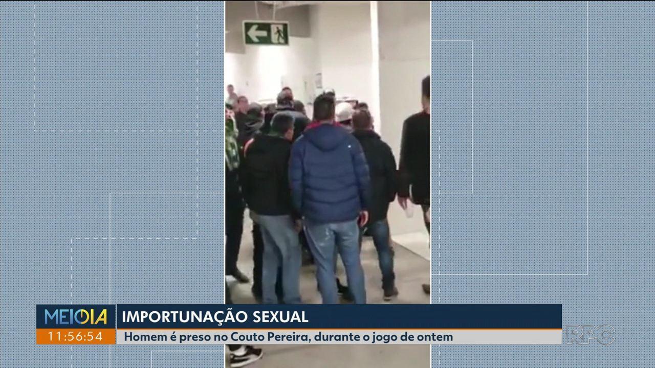 Homem é preso no Couto Pereira por importunação sexual