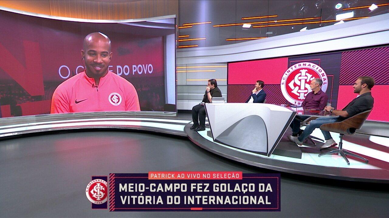 Dono do golaço da vitória do Internacional, Patrick participa do Seleção