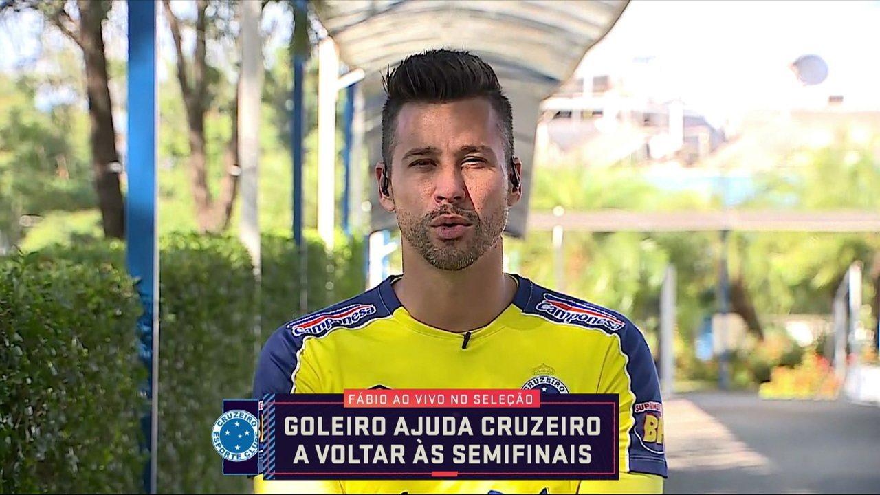 Fábio comenta classificação suada do Cruzeiro na Copa do Brasil