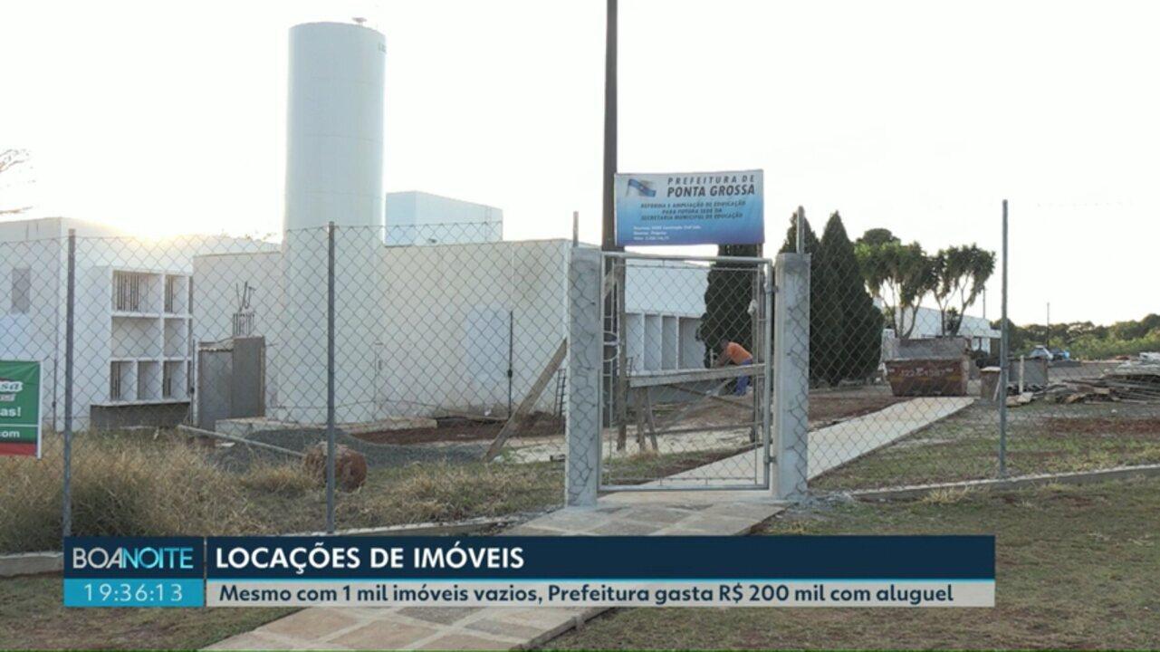 Mesmo com mil imóveis próprios, Prefeitura gasta R$ 200 mil com aluguel