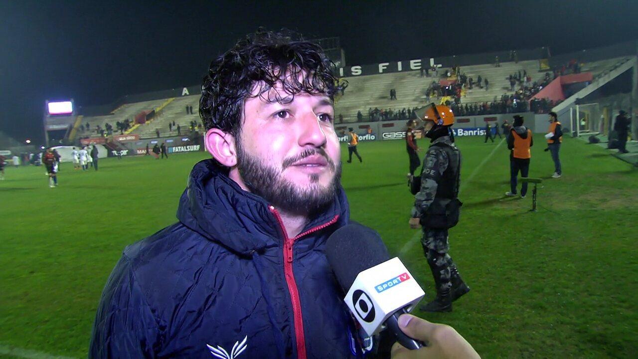 Fernando Neto fala sobre gol e vitória do Paraná contra o Brasil-RS