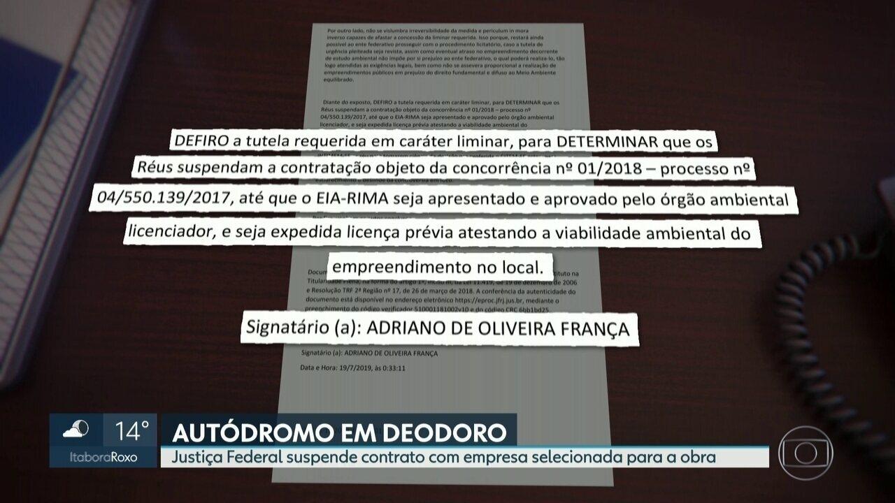 Justiça Federal suspende contrato de novo autódromo em Deodoro
