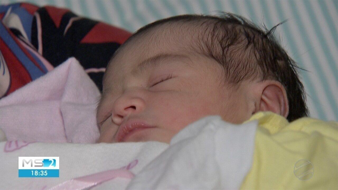 Bebê fruto de inseminação artificial em MS