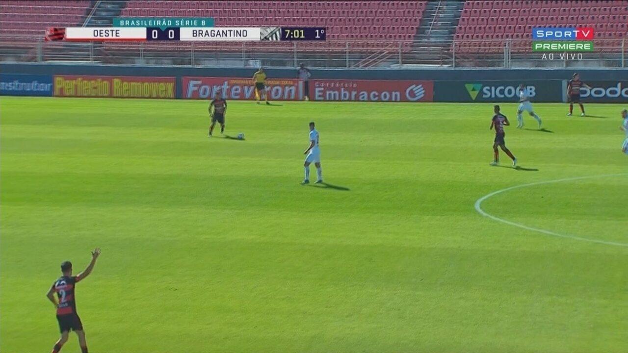 Confira melhores entre Oeste e Bragantino pela Série B do Brasileiro
