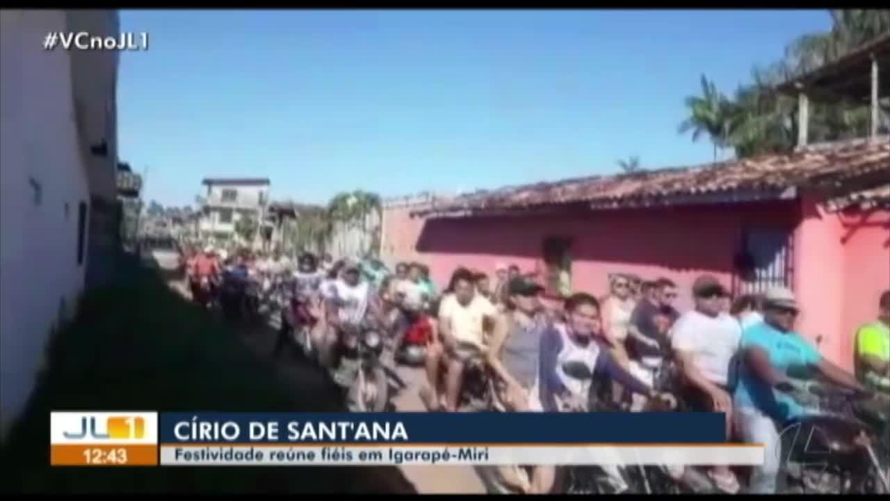 Veja as homenagens à Nossa Senhora de Santana em Igarapé-Miri