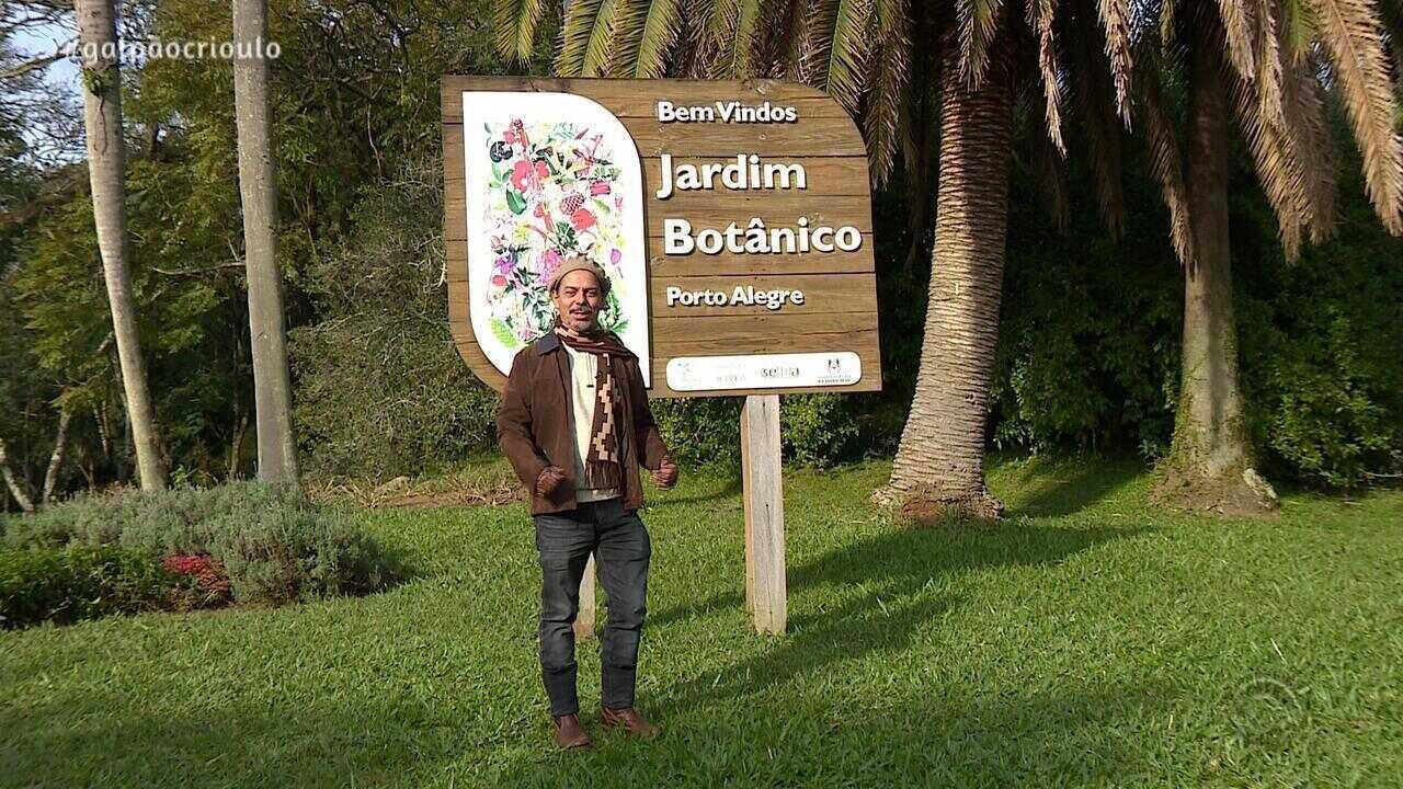 Neto Fagundes faz passeio pelo Jardim Botânico, em Porto Alegre, no quadro De Mala e Cuia