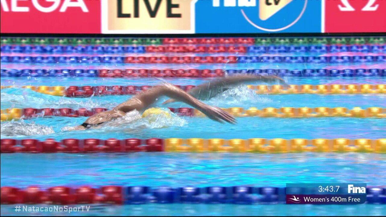 Ariarne Titmus vence os 400m livre feminino no Mundial de Esportes Aquáticos