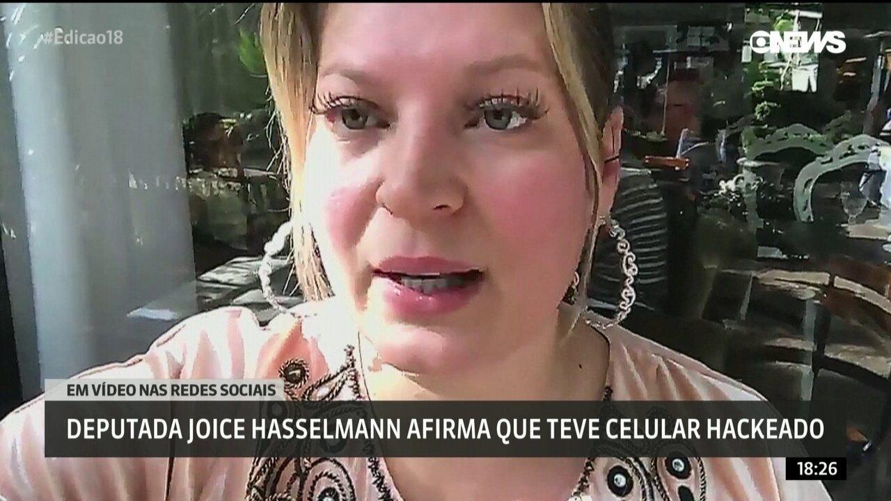 Em vídeo nas redes sociais deputada Joice Hasselmann afirma que teve celular hackeado
