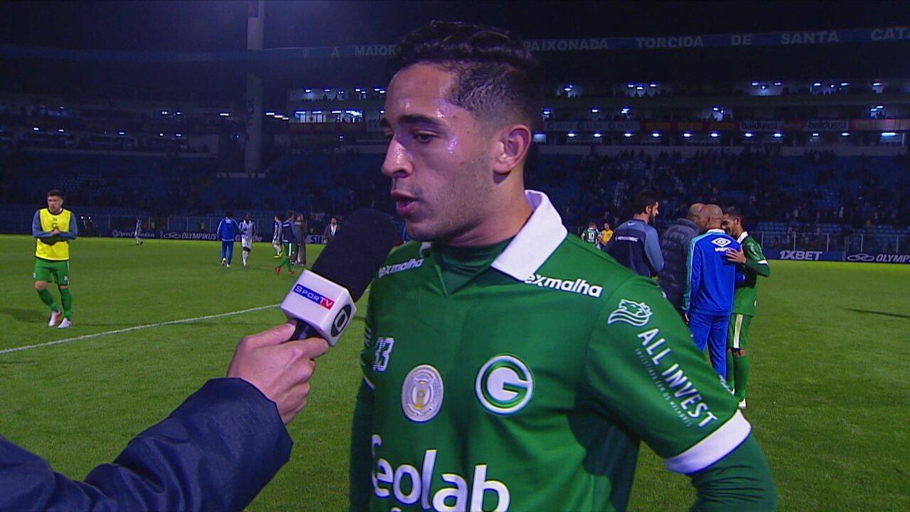 Léo Sena diz que o Goiás foi em busca da vitória, mas acredita que o ponto do empate vai fazer diferença no campeonato