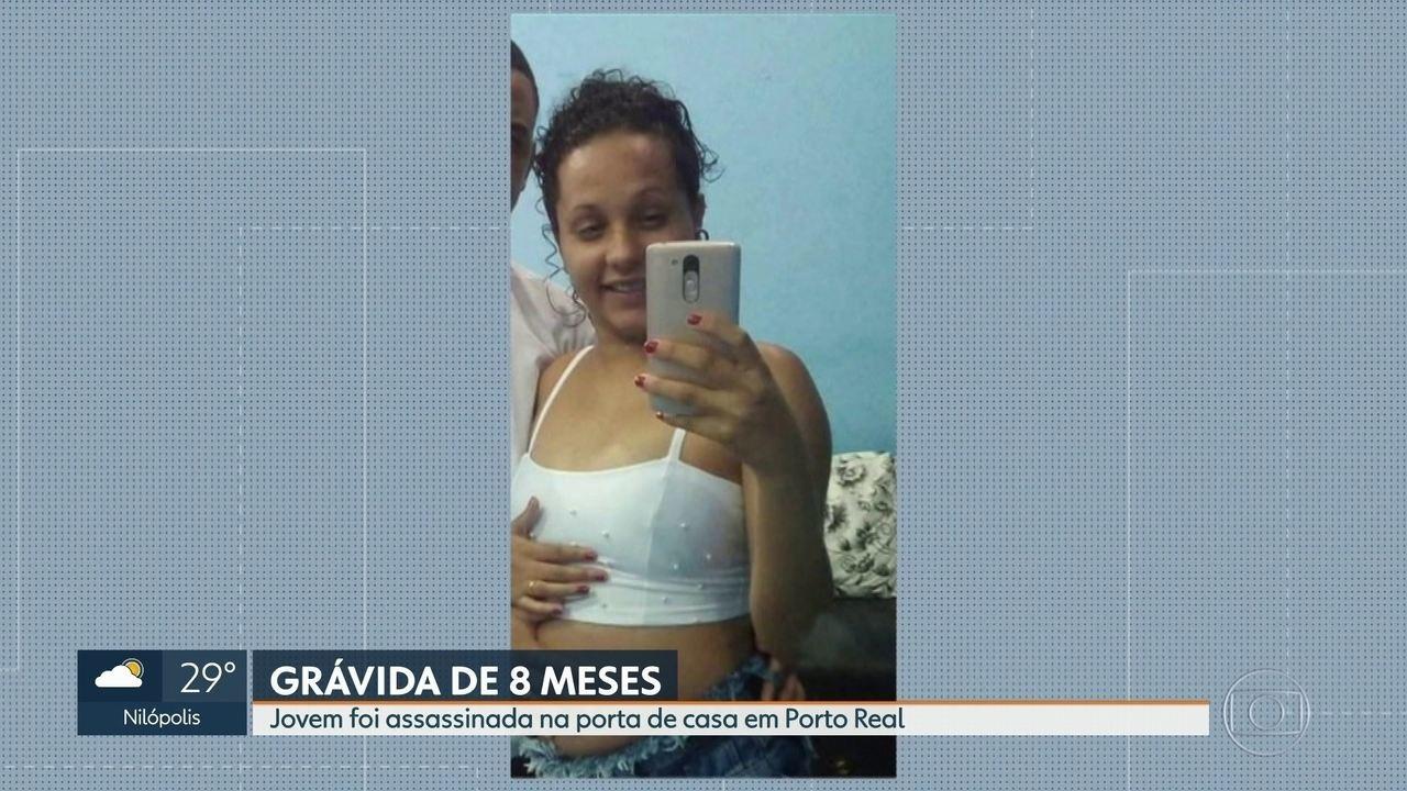 Grávida de 18 anos foi assassinada na porta de casa em Porto Real