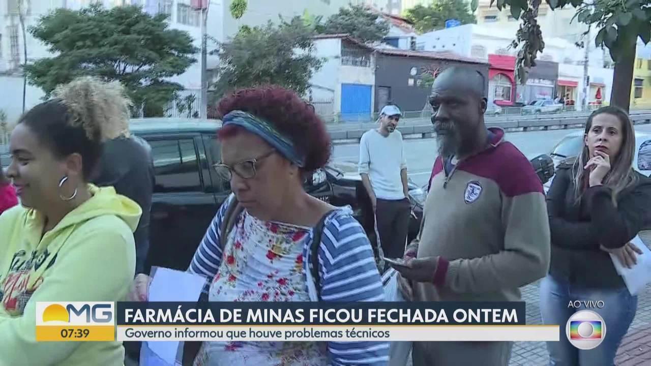 Farmácia de Minas, em BH, tem fila grande nesta manhã após ficar fechada por pane técnica