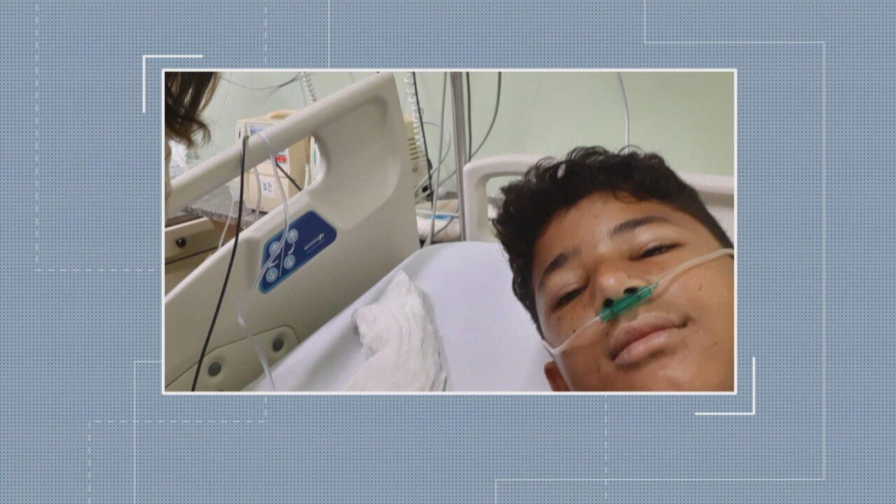 Adolescente ferido por linha chilena em Betim vai ter a perna amputada