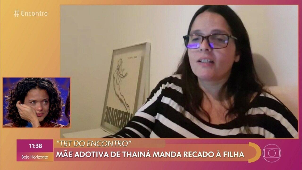 Thainá Duarte vai às lágrimas com mensagem da mãe