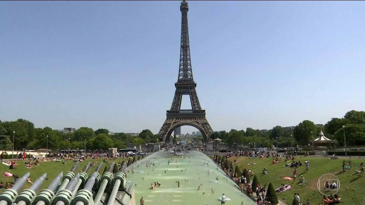 Paris tem dia mais quente da história